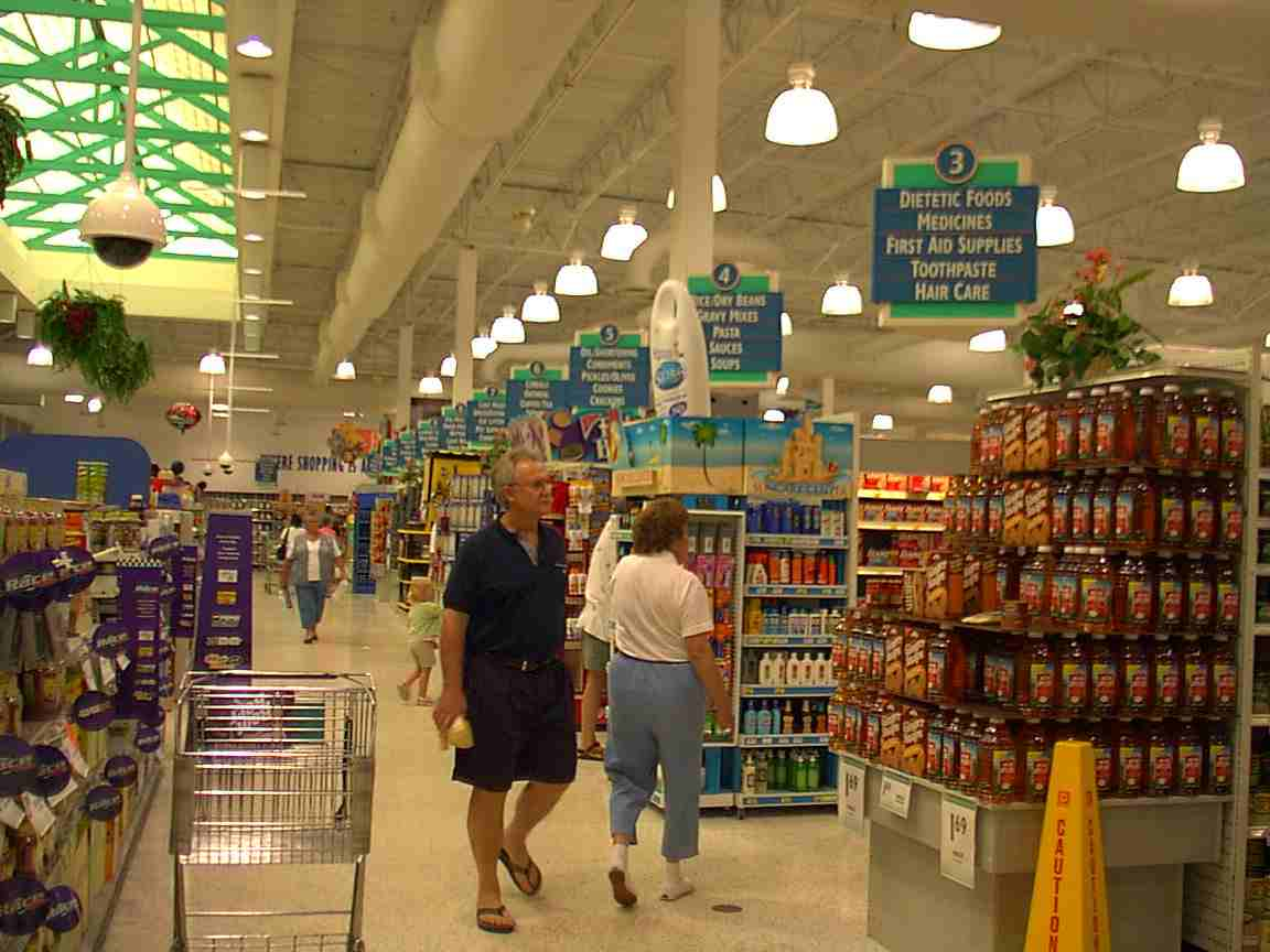 A view of the inside of Publix